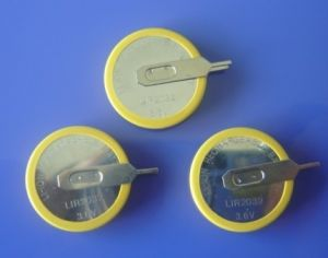 3.6V High Capacity Li-ion Button Cell Battery (button cell) pictures & photos