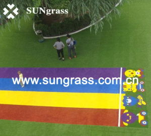 25mm High Quality Colorful School Landscape Synthetic Turf (QDS-RBY) pictures & photos