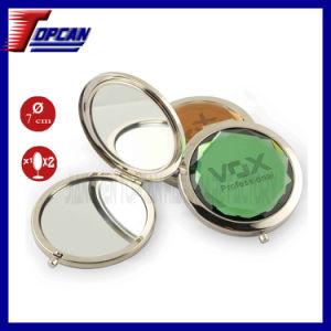 Round Rhinestone Compact Gift Pocket Mirror