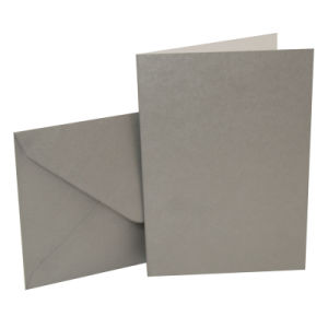 "Blank Greeting Card, 5 X 7"", Metallic Silver, 10pk pictures & photos"