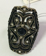 Retro Lace Metal Ring with Gem Fashion Jewelry pictures & photos