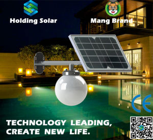 IP65 Monocrystal Solar Panel LED Light for Garden pictures & photos