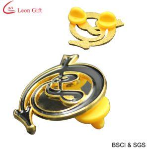 Hot Sale Enamel Logo Gold Lapel Pin (LM1022) pictures & photos