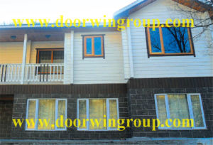 Siberian Pine/Larch Wood Aluminum Casement Window pictures & photos