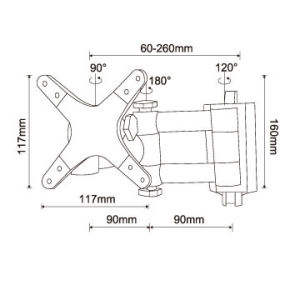 """Cantilever Retractable 180 Degrees Swivel TV Wall Mount for 13""""-27"""" Tvs pictures & photos"""