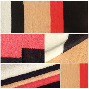 Stripe Wool Ployester Blend Knitted Fabric for Women′s Coat