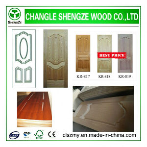 Newest Best Sell Veneer Wooden Door Skin pictures & photos
