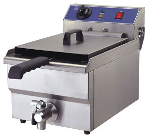 Commercial Electric Deep Fryers for Chiken or Vegetables with Oil Outlet pictures & photos