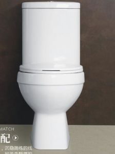 Wash Down Two Pieces Wc Toilet with Competitive Price pictures & photos