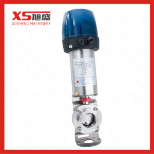 SS304 Pneumatic Clamp-Clamp Butterfly Valve with C-Top Controller pictures & photos