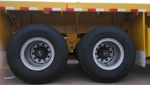 40ft 3 Axle Flatbed Container Semi Trailer with Fuwa Axle for Sale pictures & photos