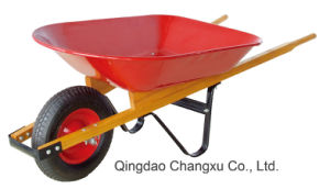 Heavy Duty Wood Handle Wheelbarrow