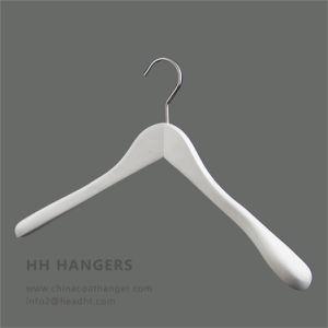 Big Shoulder Wodoen White Black Flocked Shoulder Hanger pictures & photos