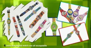 Non-Toxic Child Colorful Soft PVC Watch pictures & photos