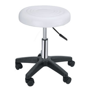 White Round Stool/Hair Salon Furntiure Zc24 pictures & photos