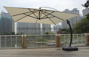 Best 10 FT Square Aluminum Offset Cantilever Umbrella, Outdoor Hanging Umbrella with 360 Degree Rotation and Vertical Tilt, 250 GSM UV-Resistant Polyester, Tan pictures & photos