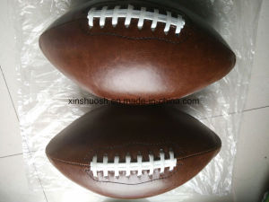 3# PVC Machine Stitching Brown American Football pictures & photos