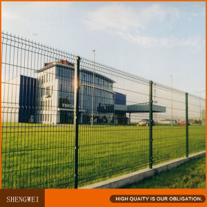 PVC Coated Welded Iron Wire Mesh Fence Panel pictures & photos