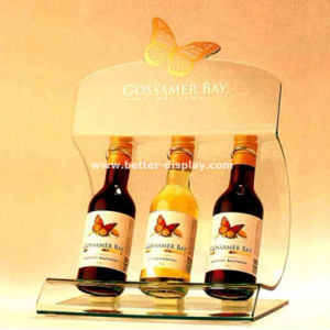 Tabletop Acrylic Wine Display Shelf with Glasses Btr-D2129 pictures & photos