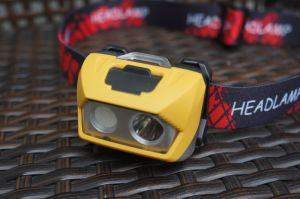 Hiking/Camping/Fishing Double Lighting System Double Powering LED Headlamp pictures & photos