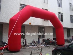 Inflatable Red Entrance Arch for Advertising, for Commercial pictures & photos