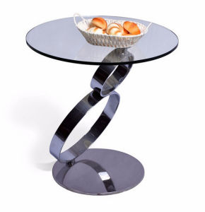 Simple Molded with Tempered Glass Top Stainless Steel Living Room Coffee Table