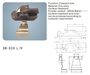 Crescent Lock for Window and Door (SW-626 L/R) pictures & photos