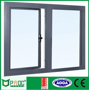 Wooden Grain Aluminium Casement Window pictures & photos