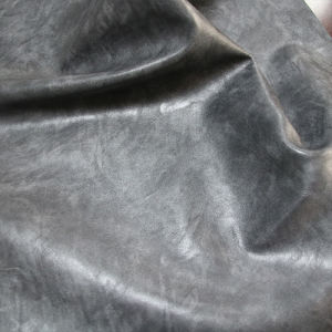 Hot Sale Soft Crazy Horse PU Leather for Shoes Furniture (E6087) pictures & photos