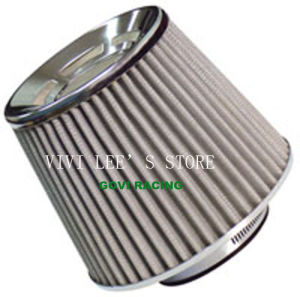 Black Flat 3in Auto Air Filter Universal for Car Air Intake Pipe pictures & photos