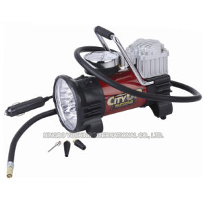New Style Metal Car Air Pump with LED Lights pictures & photos