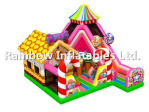 Big Size Inflatable Candy Land Playground/ Candy Slide Funcity for Kids pictures & photos