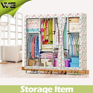High Capacity Printing Cheap Hanging Canvas Storage Wardrobe pictures & photos