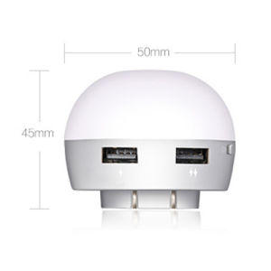 High Brightness Warm White Us EU UK Plug LED Night Light with Light Sensor Dual USB Charger for Bedroom Home pictures & photos