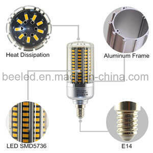 LED Corn Light E14 20W Warm White Silver Color Body LED Bulb Lamp pictures & photos