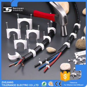 Plastic Cable Holder Clips with Steel Nail Good Quality