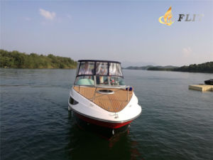 Hot Sale 7.3m 10-12 Person Half Cabin Ourboard Engine Boat for Sale pictures & photos