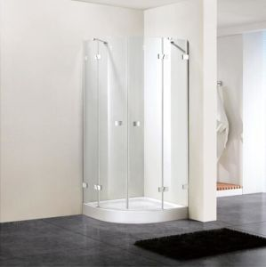 Shower Enclosure 8mm Tempered Glass Quadrant Hinge Door (BN-HDDQD80) pictures & photos