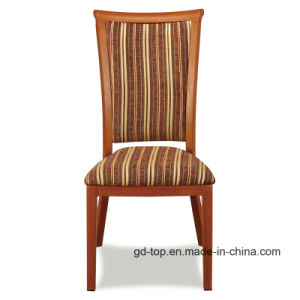Classy Wood Look Round Back Metal Dining Chair pictures & photos