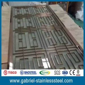 Decorative Metal Air Screen of Stainless Steel Folding Room Divider pictures & photos