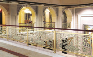 Hotel Luxury Decorative Stainless Steel Railing Electroplating Balustrade pictures & photos