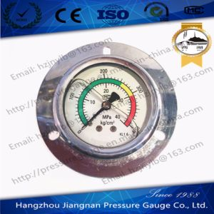 60mm 2.5′′ Ss Oil Filled High Pressure Gauge with Front Flange pictures & photos