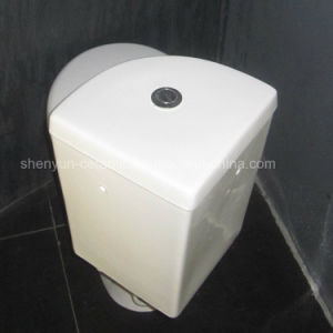 Ceramic Corner Toilet 2-Piece Wash-Down Toilet pictures & photos