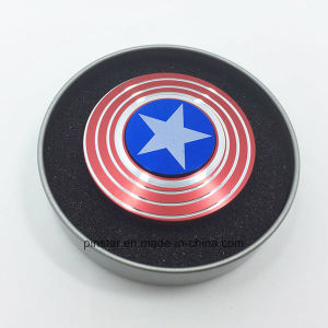New Style EDC Fidget Spinner American Flag Shield Finger Spinner Toys pictures & photos