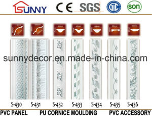 Silver Color PU Ceiling Molding Cornice / Polyurethane Cornice Moulding pictures & photos
