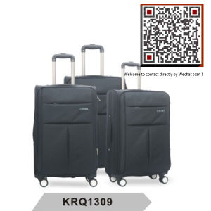 Hotsale 1200d Polyester 4wheels Inside Trolley Luggage (KRQ1309) pictures & photos