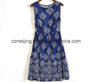 Two Color Women`S Silp Dress