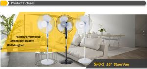 """16"""" Oscillating Stand Fan, Pedestal Fan with Powerful Air Flow pictures & photos"""