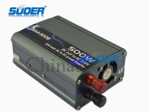 Suoer 500W Power Inverter 24V to 220V Inverter (SAA-500B) pictures & photos