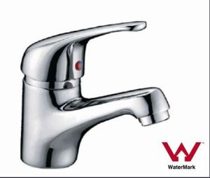 Sanitary Ware Watermark and Wels Approved Chrome Finished Brass Single Lever Basin Tap (HD6041) pictures & photos
